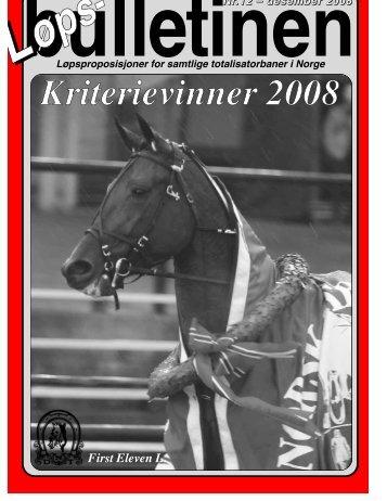 Løpsbulletinen for desember 2008 - Det Norske Travselskap