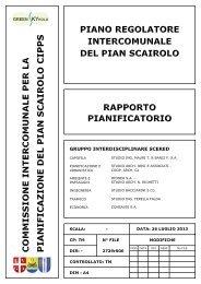 Rapporto di pianificazione - Pian Scairolo