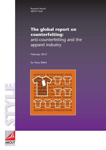 The global report on counterfeiting - ABOUT Publishing Group ltd