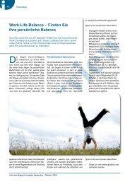 Work-Life-Balance – Finden Sie Ihre persönliche Balance - bernardi