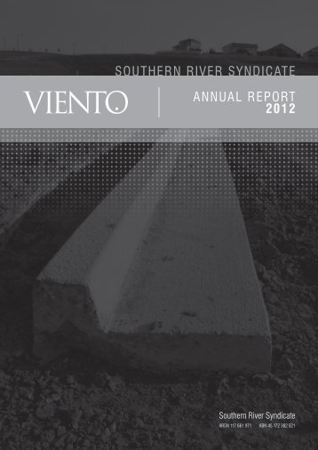 ANNUAL REPORT 2012 SOUTHERN RIVER SYNDICATE - Viento