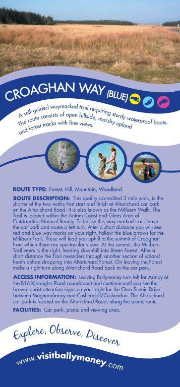 Croaghan Way (Blue) brochure - Visit Ballymoney