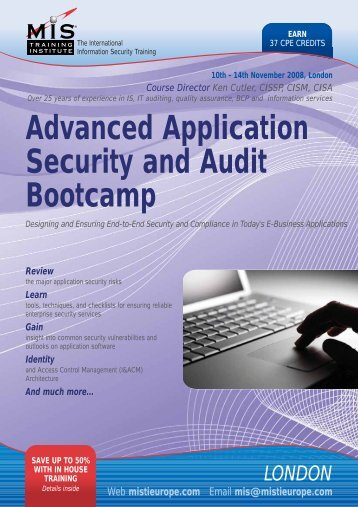 Advanced Application Security and Audit Bootcamp - MIS Training
