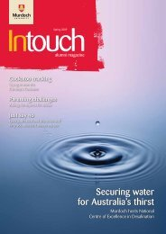 Download In Touch Spring 2009 here - Alumni - Murdoch University