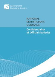 National Statistician's Guidance: Confidentiality of Official Statistics