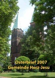 Osterbrief 2007 Gemeinde Herz-Jesu