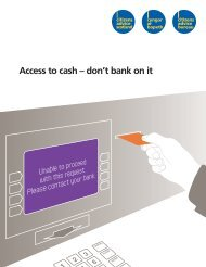 Access to cash - don't bank on it [ 0.97 MB] - Citizens Advice