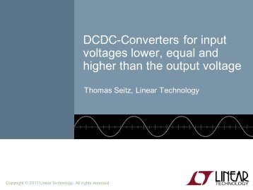 DCDC-Converters for input voltages lower ... - Find your engineer