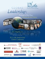Portraits of the Past, Visions for the Future - International Leadership ...