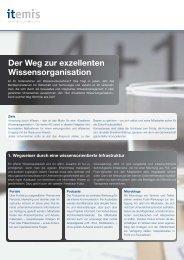Der Weg zur exzellenten Wissensorganisation - itemis AG