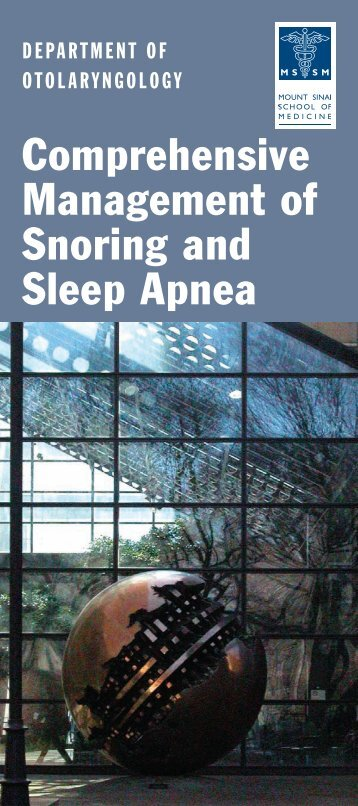 Sleep Apnea Brochure - Mount Sinai Hospital