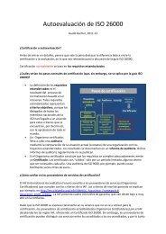 Autoevaluación de ISO 26000 - ISO 26000, an estimation