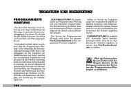 WARTUNG DES FAHRZEUGS - Fiat Professional