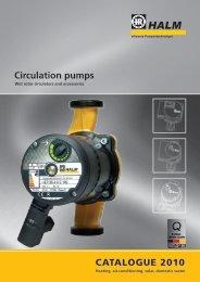 Circulation pumps CATALOGUE 2010 - halm.info