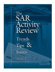 SAR Activity Review Issue 5 - FinCEN