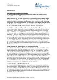 vollständige Medienmitteilung als pdf - Kirchgemeinde Wohlen
