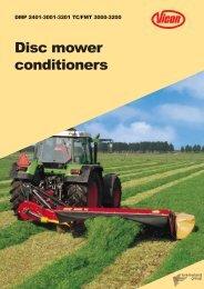 Disc mower conditioners - ACI Distributors