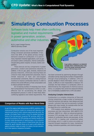 Simulating Combustion Processes - ESSS
