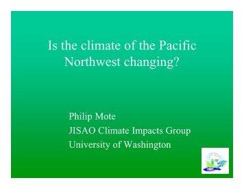 PNW Clim Change Boise'02 - Mote - University of Washington