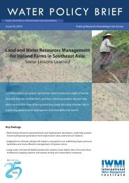 Land and water resources management for upland farms