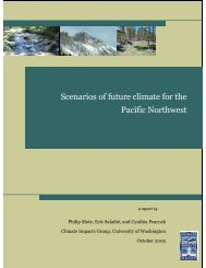 Scenarios of future climate for the Pacific Northwest - Center for ...