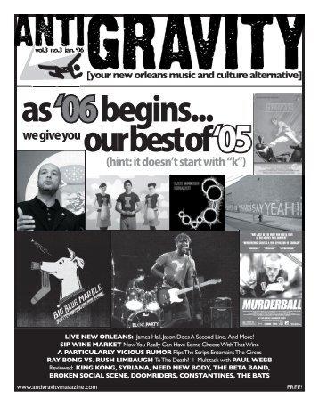 January 2006 (PDF) - Antigravity Magazine
