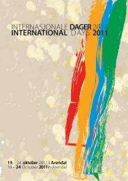 Program Internasjonale Dager 2011 (pdf) - Arendal kommune