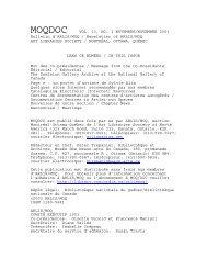 Vol. 13, no. 1 (novembre/November 2003) - arlis/na moq