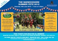 THE WARWICKSHIRE SUMMER FETE 2012 - The Club Company