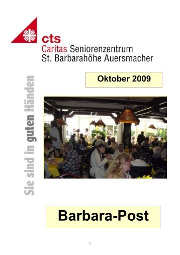 HZ St.B. Oktober 09 - Caritas Seniorenzentrum St. Barbarahöhe