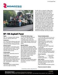 RP-195 Asphalt Paver