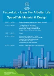 SpeedTalk Material & Design FutureLab - Ideas For A ... - BNC - Bayer