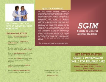download brochure - SGIM - Society of General Internal Medicine