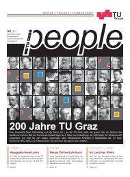TU Graz people 1/2011 - Graz University of Technology