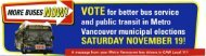 VOTE for better bus service and public transit in Metro Vancouver ...