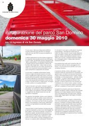 inaugurazione del parco San Donnino domenica 30 ... - Urban Center