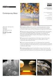 Contemporary Glass - Black Dog Publishing