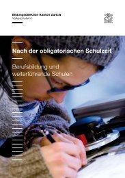 Berufsbildung und weiterführende Schulen - Schule Wehntal Schule ...