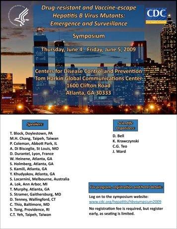 Symposium Drug-resistant and Vaccine-escape Hepatitis B Virus ...