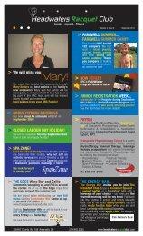 September Newsletter - Headwaters Racquet Club