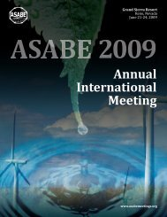 Annual International Meeting - American Society of Agricultural and ...