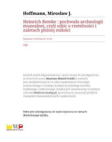 t - Instytut Archeologii Uniwersytetu Warszawskiego