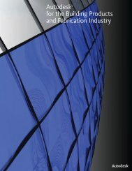 Autodesk® for the Building Products and Fabrication Industry