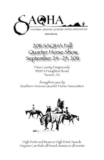 Fall Show Premium - Southern Arizona Quarter Horse Association