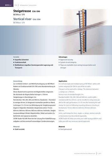 Steigetrasse E30 / E90 Vertical riser E30 / E90 - LEONI Infrastructure ...