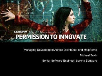 Deployment - Serena Software
