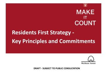 Residents First Strategy - Meetings, agendas, and minutes