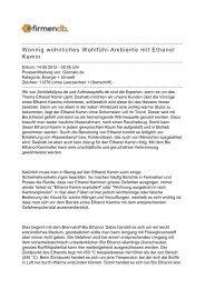 Wonnig wohnliches Wohlfühl-Ambiente mit Ethanol Kamin - Firmendb