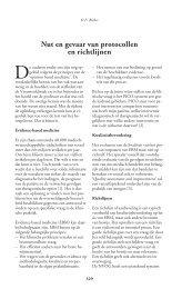 Nut en gevaar van protocollen en richtlijnen - Cardio