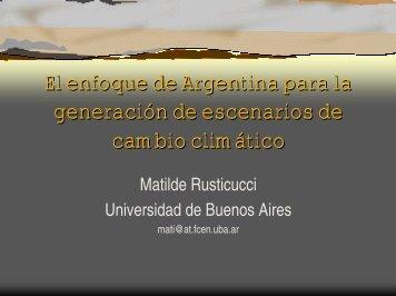 El enfoque de Argentina para la generación de escenarios de ...